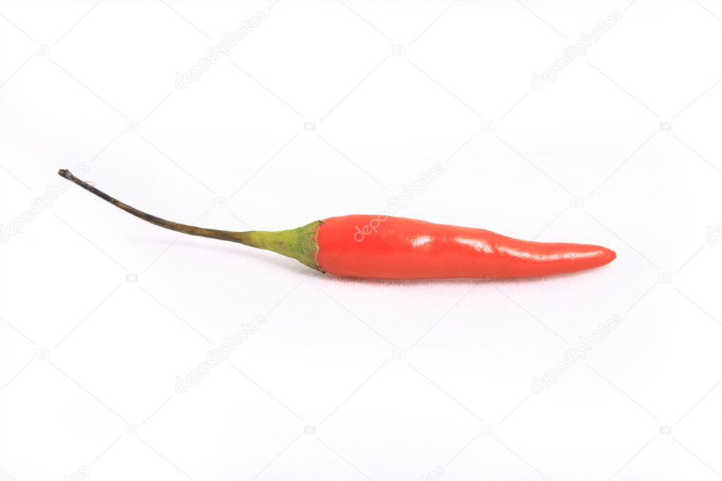 Little red peppers on a white background. — Stock Photo #2841145