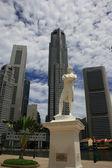 Raffles statue — Stockfoto