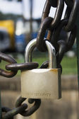 Chain and padlock — Stock Photo