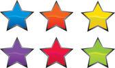 Yıldız kutsal kişilerin resmi ya da düğme — Stok Vektör
