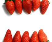 Strawberries Frame — Stock Photo