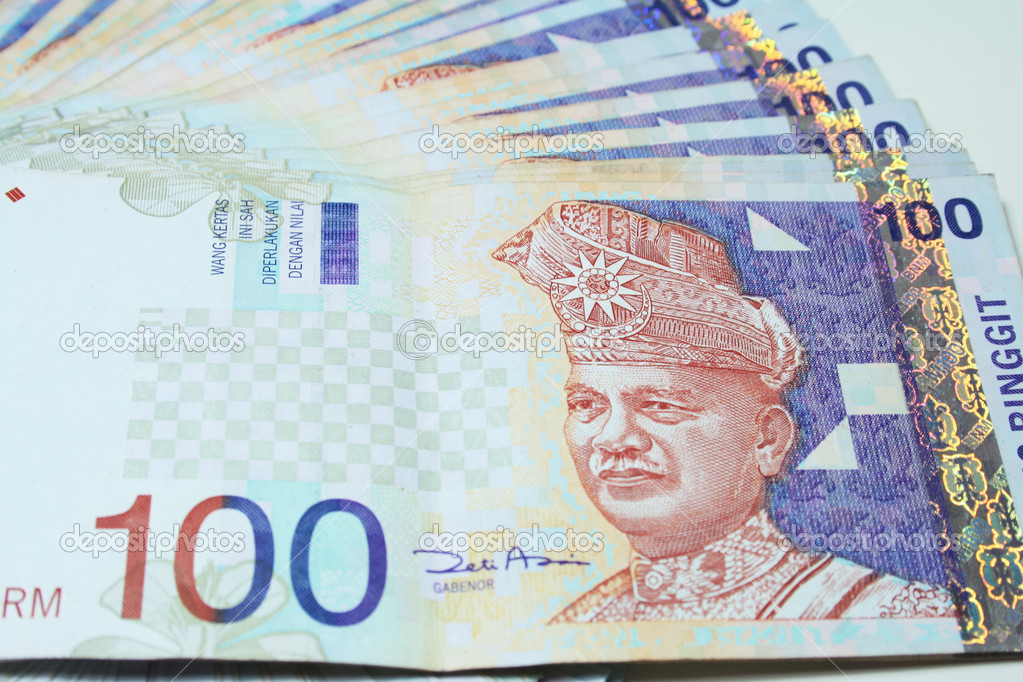 Close up of RM100 Malaysia Notes. — Stock Photo #3789522