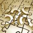 Question mark puzzle — Stock Photo