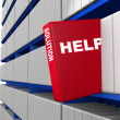 Stock Photo: Help and solution concept