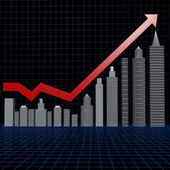 Real estate investment chart — Stock Photo