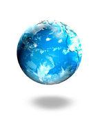 Bulut tarafından çevrili dünya'nın küre — Stok fotoğraf