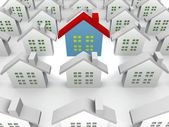 Blue outstanding 3d houses — Stock Photo