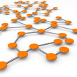 Business network concept - Foto de Stock