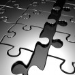 unendo il concetto di business puzzle — Foto Stock