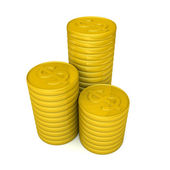 Pile of golden coins money concept — Stock Photo