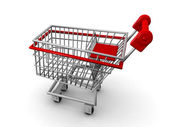 Shopping cart ecommerce concept — Stock Photo