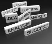 Concepto de objetivos de negocio — Foto de Stock