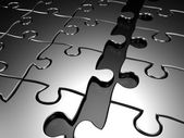 Joining puzzle business concept — Stock Photo