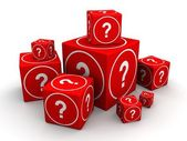 Question and guessing concept — Stock Photo