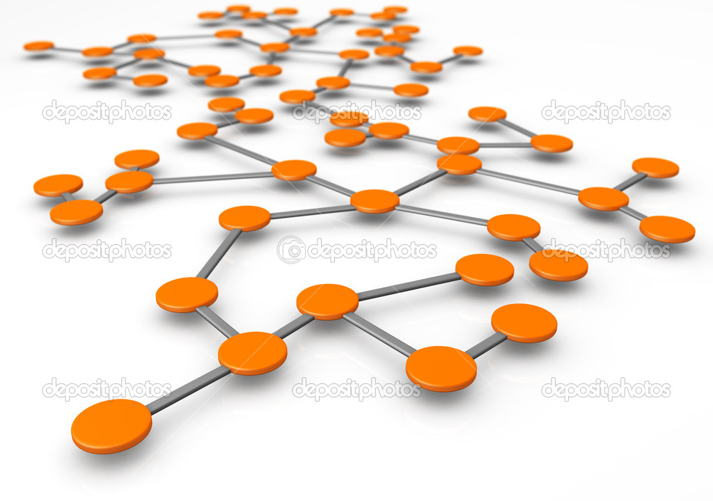 Business network or connection concept white background 3d illustration — Stock Photo #3427241