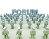 Forum Rules Concept — Stock Photo