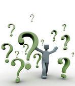 質問と問題の概念 — ストック写真