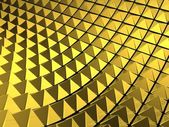Abstract gold pyramid background — Stock Photo