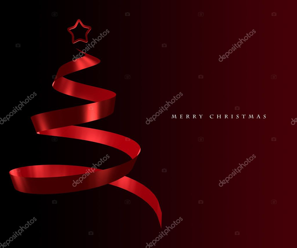 Elegant Christmas tree abstract design — Stock Photo #3783011