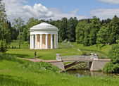 Summer garden in Pavlovsk — Stock Photo