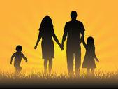 Familia feliz — Vector de stock