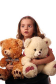 Child with bears — Stock Photo