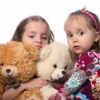 Kids and bears — Stock Photo