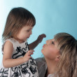 Kiss for the little princess — Stock Photo
