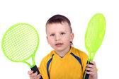 Küçük tenisçi — Stok fotoğraf
