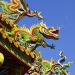 Roof of Chinese temple - Stock Photo