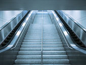 Escalator and stair — Foto Stock