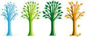 Season tree — Stock Vector