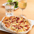 Stock Photo: Federweisser and tarte flambee