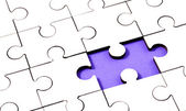Jigsaw With Piece Missing — Stock Photo