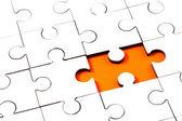 Jigsaw with one piece missing — Stock fotografie
