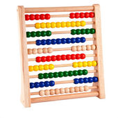 Abacus With Bright Colored Beads — Stock Photo