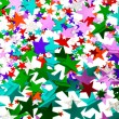 Star confetti — Stock Photo