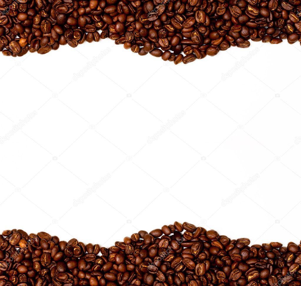Coffee Bean Border — Stock Photo © swalwellj #3763292