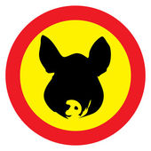 Swine warning — Stock Photo