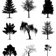 Trees collection — Stockvektor