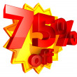 Stock Photo: 75 Percent price off