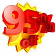 95 Percent price off — Stock Photo