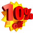 Stock Photo: 10 Percent price off