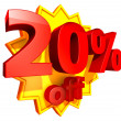20 Percent price off - Stock Photo