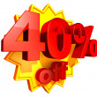 Stock Photo: 40 Percent price off