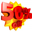 50 Percent price off - Stock Photo