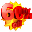 60 Percent price off — Stock Photo