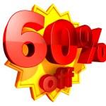 60 Percent price off — Stock Photo