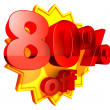 80 Percent price off — Stock Photo