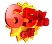 65 percent off — Stock Photo